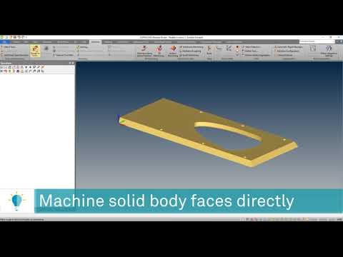 Machine Solid Faces Directly | ALPHACAM 2020.0