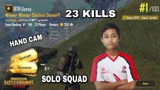 BTR ZUXXY GAMEPLAY WITH HAND CAM SOLO SQUAD