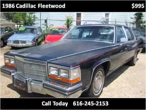 1986 Cadillac Fleetwood Used Cars Grand Rapids MI - YouTube