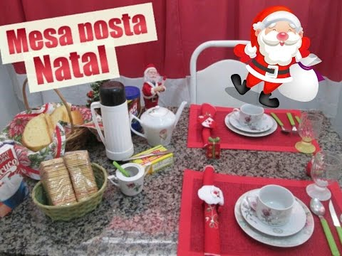 Mesa posta de caf da manha de NATAL  YouTube