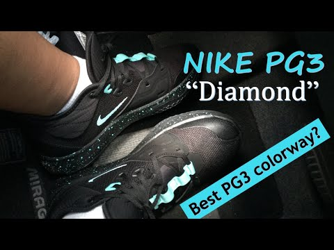 sneak-pick:-pg3-diamond-/-black-light-aqua-colorway-unboxing-review-and-on-feet-+-performance