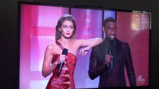 Gigi Hadid and Jay Pharaoh Opening Monologue 2016 AMA's