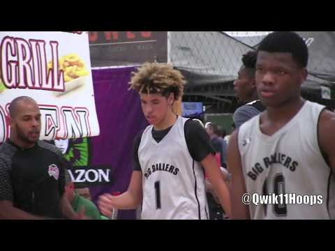 Every Shot From LaMelo Ball Putting in Work vs Best Athletes from Fresno California