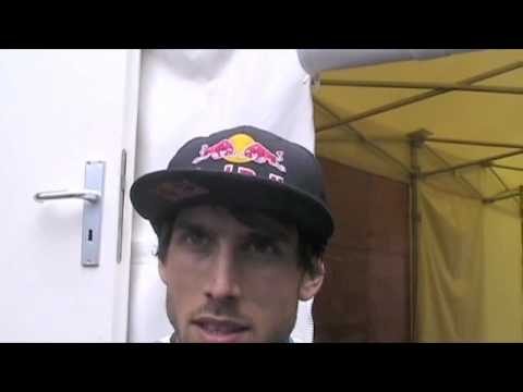 2010 Champery World Cup DH #4 - Gee Atherton Interview