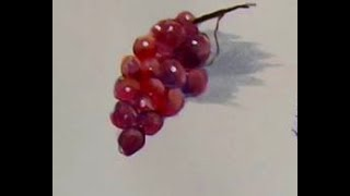4 EASY Steps to Painting RED GRAPES with Acrylic Paint for the beginner, step by step,and  tips