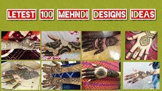 100 new Easy mehndi designs for hands ||arabic mehndi design ||