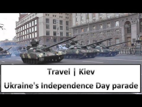 Kiev Military Parade rehearsal: Ukraine's 25 year independence day