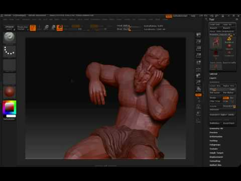ZBrush Useing transpose to rotate the for arm.