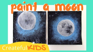 How To Paint a Moon and Stars -- Fast & Easy