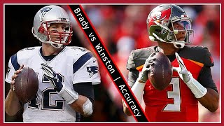 Who is more accurate: Tom Brady or Jameis Winston?