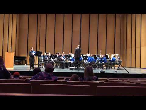 Class of Checotah High School Band Performing Concertino by Weber