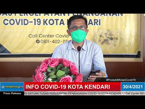 INFO COVID-19 KOTA KENDARI, JUM'AT 30 APRIL 2021