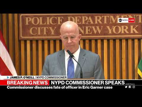 Eric Garner case: NYPD commissioner makes announcement on cop at center of investigation   ABC News