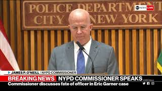 Eric Garner case: NYPD commissioner makes announcement on cop at center of investigation  | ABC News