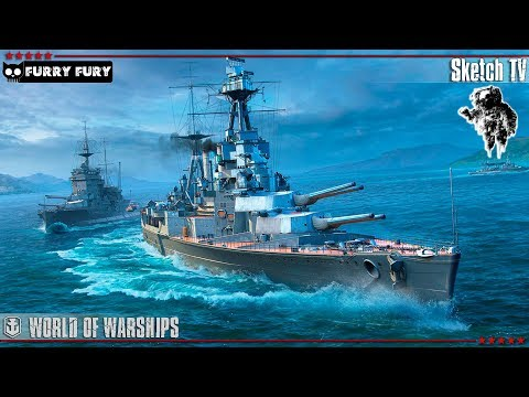 ⚓ БРИТАНСКИЙ ЛИНКОР HOOD 🕵️‍♂️ World of Warships. Sketch TV