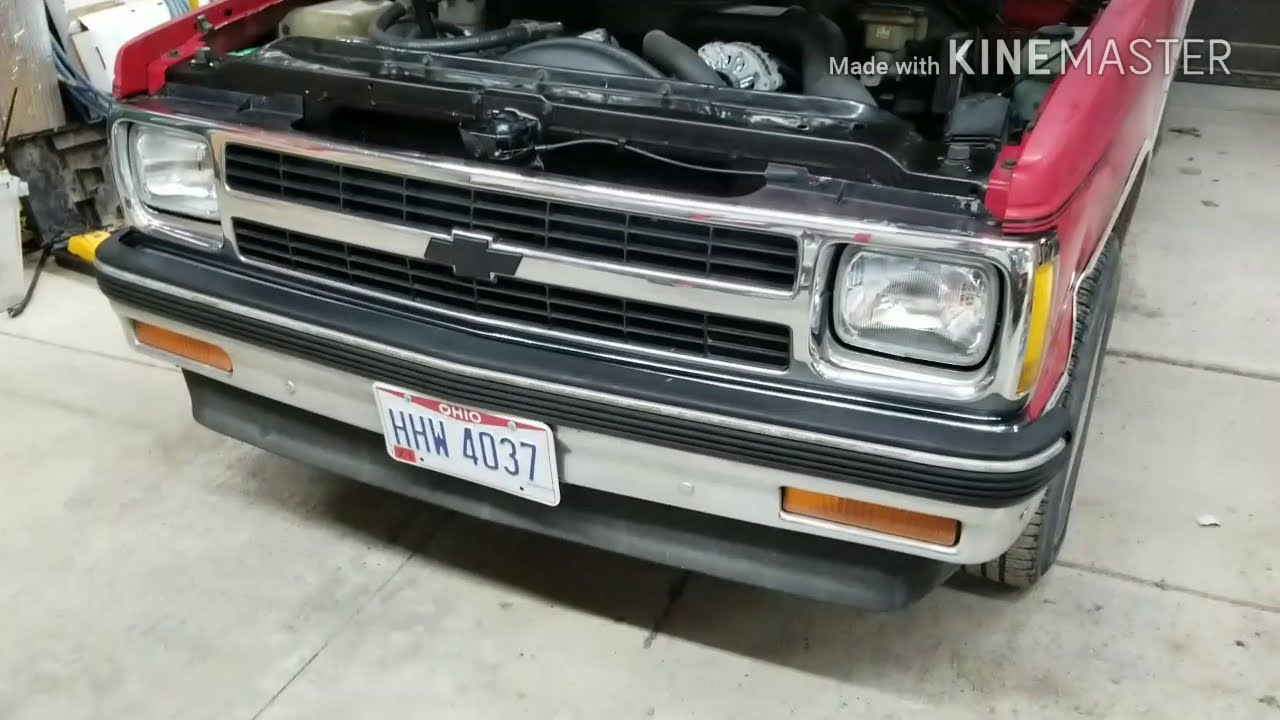 Headlight upgrade for the 1993 Chevy s10  Cleaning up the front end