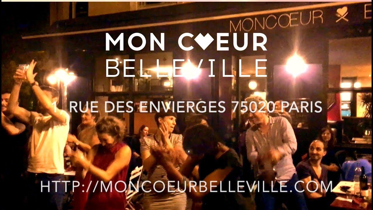 Concert Sur La Terrasse Du Bar Restaurant Moncoeur Belleville à Paris