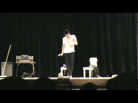 Spencer Vance wins high school talent show