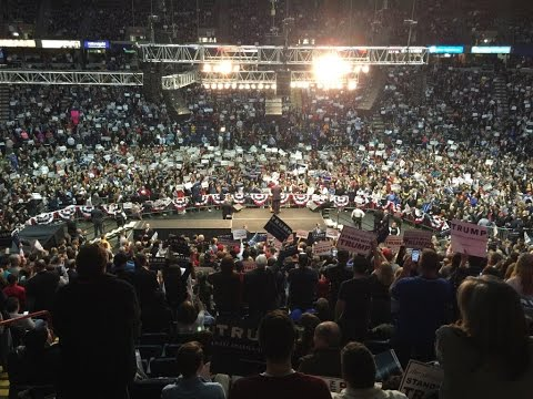 17,500+ people at the Times Union Center in Albany, New York Trump Rally