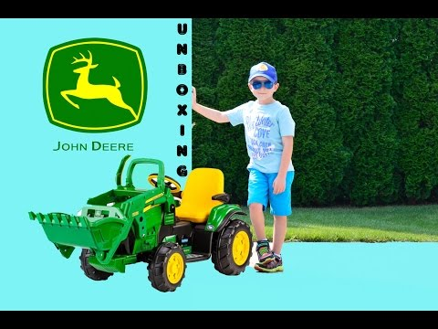 Little Heroes Peg Perego John Deere Ground Loader Unboxing and Review