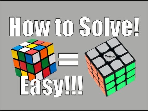 How To Solve A 3x3x3 Rubiks Cube Easiest Tutorial The White Cross