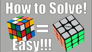 how to solve a 3x3x3 rubik s cube easiest tutorial the white cross