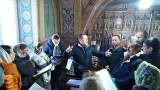 Церковний хор Свято-Михайлівського храму села Онок