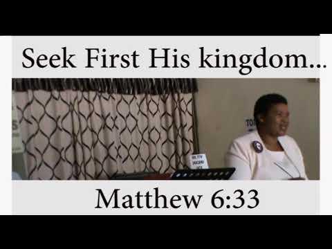 But Seek First.......