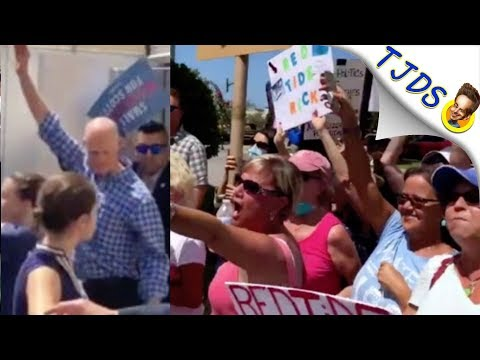 Rick Scott Booed Out Of Restaurant Over Red-Tide