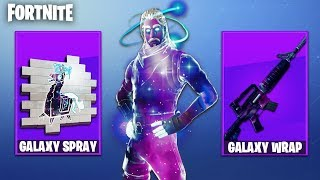 NEW FORTNITE GALAXY SKIN WEAPON CAMO! Galaxy skin Spray & Wrap (Fortnite Battle Royale)