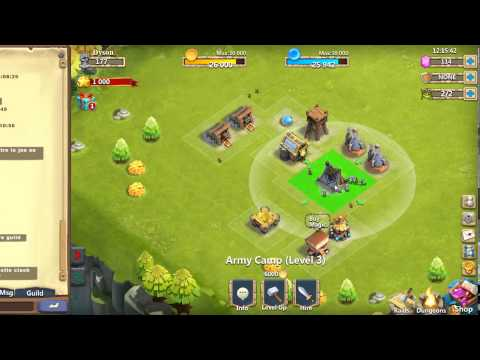 Castle Clash: The New Adventure - Play 1 - Basic Play - Town Hall Level 3