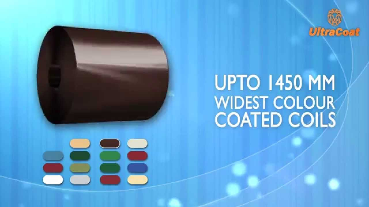 Colour coated sheets manufacturing process - Ultracoat Widest Colour Coated Steel Coils