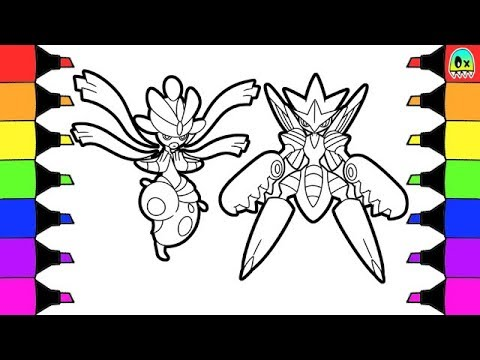 pokemon coloring pages mega evolution medicham and mega scizor colouring book fun for kids