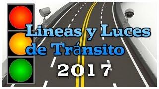 Como Conducir con lineas y luces de Señales de Transito al manejar carro carrera coche