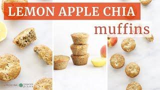 Lemon Apple Chia Muffins | Healthy Baking Recipe | Limoneira