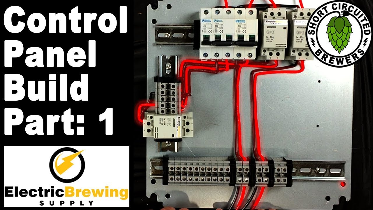 Electric Brewing Supply  Panel Build Part 1  Panel layout and 220V wiring  for electric