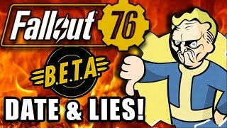 Fallout 76 BETA Date & HOW BETHESDA MISLEAD YOU!