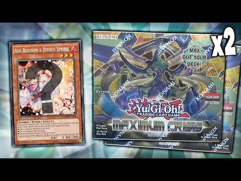 BEST YuGiOh MAXIMUM CRISIS 1st Edition BOOSTER BOX OPENING x2! 48 Maximum Crisis Pack Opening!