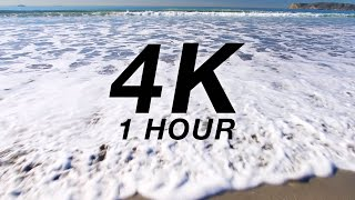 "[4K] ""Coronado Beach Waves"" PART I 1 HR Nature Relaxation Video Canon 1DC UHD Slow-TV"