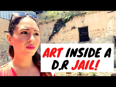 Art in Dominican Republic: Look what I found in an ABANDONED JAIL!