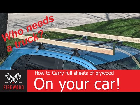 Transport Plywood On Your Car. Plywood And Lumber Roof Rack