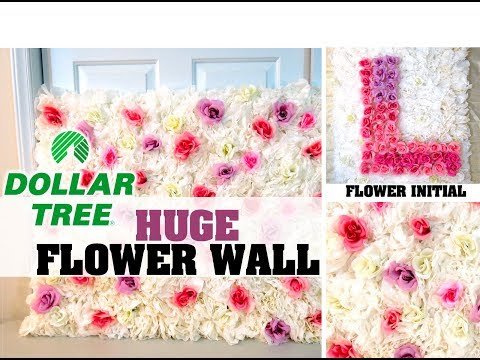 DIY Dollar Tree Huge Flower Wall or Flower Initial - Under $20