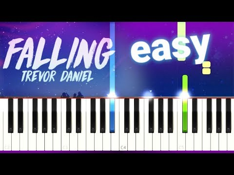 Trevor Daniel - Falling (100% EASY PIANO TUTORIAL)