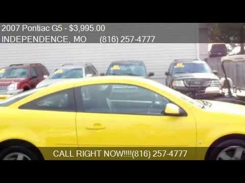 2007 pontiac g5 base 2dr coupe for sale in independence mo youtube. Black Bedroom Furniture Sets. Home Design Ideas