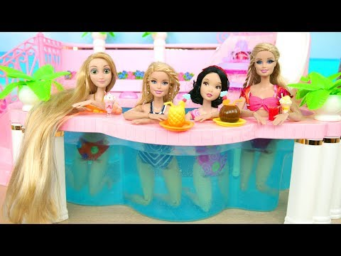 Pink Pool Side Tent for Dolls Schwimmbad Kolam renang حمام السباحة Piscina Piscine pour poupées