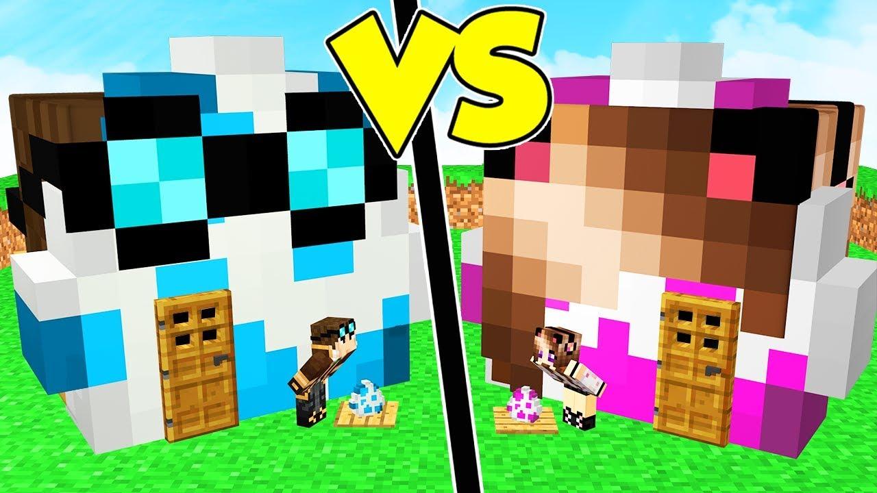 Casa Uovo Di Lyon Contro Casa Uovo Di Anna Su Minecraft Youtube