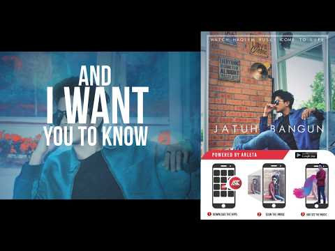 Haqiem Rusli - Jatuh Bangun  (Official Lyric Video With Augmented Reality Powered by ARLETA)