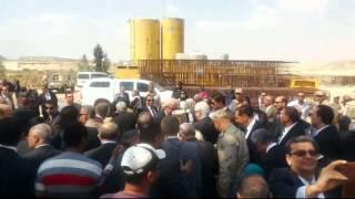 وزير التعليم العالى ورؤساء الجامعات فى نقطة عبور ماء النيل أسفل قناة السويس الجديدة