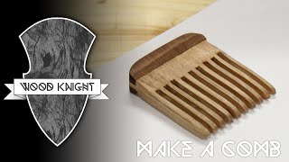 038 - Wooden hair comb