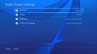 how to change resolution on ps4